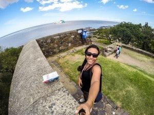 Muralha com vista para o Rio da Prata
