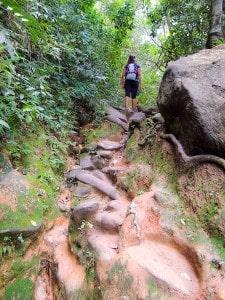 Muitas subidas durante a trilha