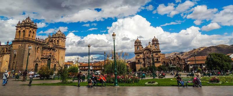 Praça de Armas no centro histórico de Cusco