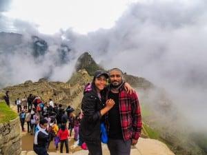 Nossa chegada à Machu Picchu